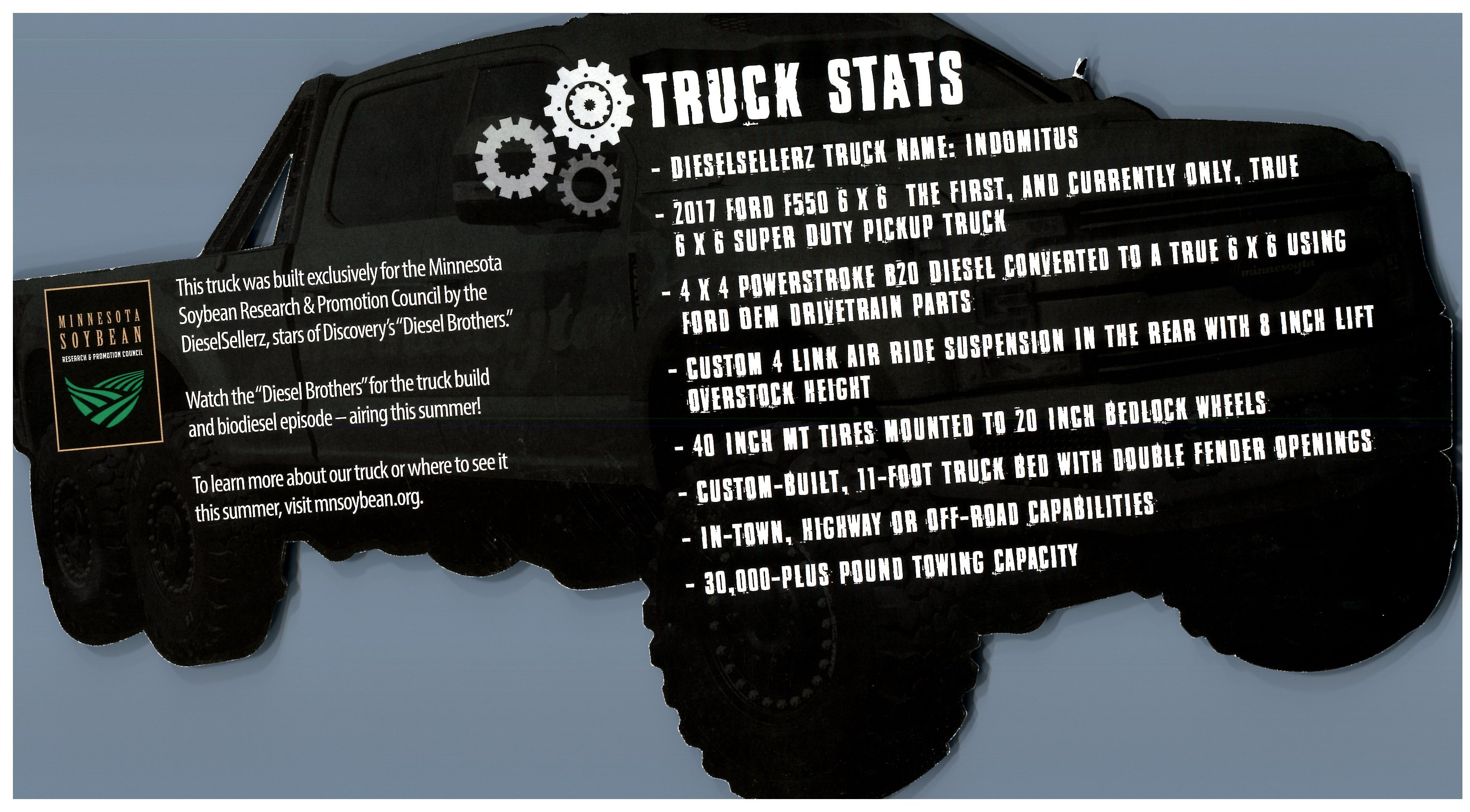 Learn More About The Truck & How MN Changed to 20% For The Biodiesel From 10!