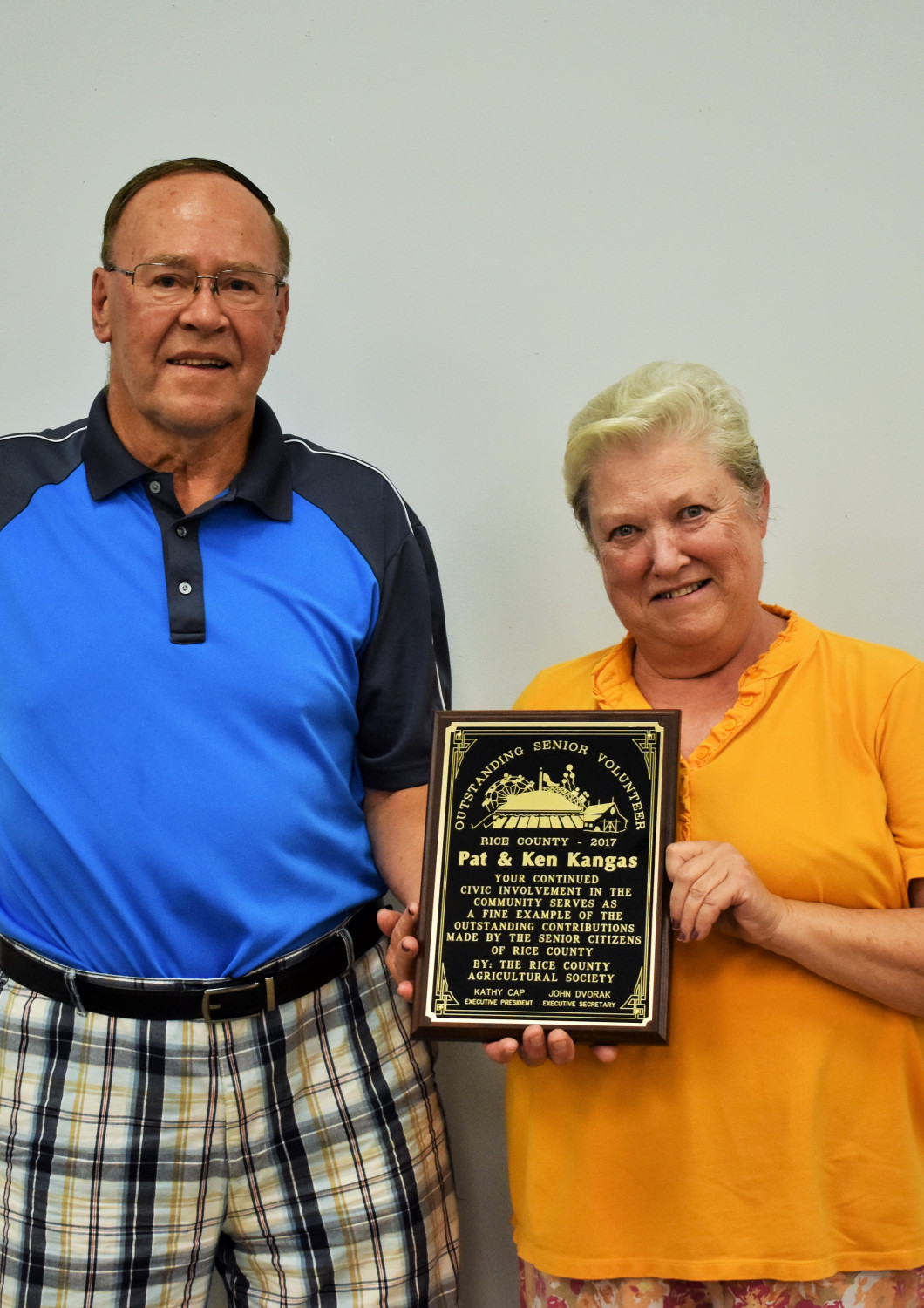 <center>Ken and Pat Kangas Senior Citizen of the Year </center>