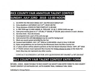 Rice County Fair Amateur Talent Contest
