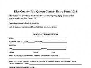 Rice County Fair Queen Contest