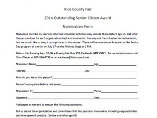 Outstanding Senior Citizen Application