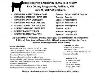Open Class Beef Show Application